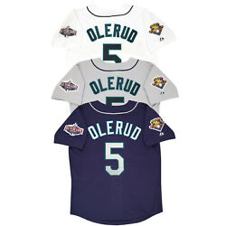 John Olerud 2001 Seattle Mariners Home Road Alt Menand039s Jersey W/ All Star Patch