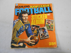 T313.  Part Set 115 / 172 1984 Scanlens Rugby League Stickers In Album