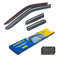 Goodyear Window Rain Guards For Trucks Ford F150 2015-2021 Supercab Tape-on