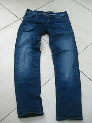Womens Scotch And Soda Ams Blauw Stretch Faded Tapered Blue Jeans W 29 L 32 Uk 10