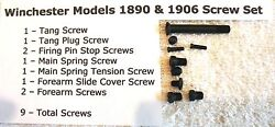 Winchester 1890 And 1906 Complete Screw Set Of 9 Screws