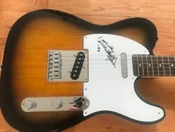 Keith Richards Signed Fender Guitar Coa Proof Rolling Stones Autographed