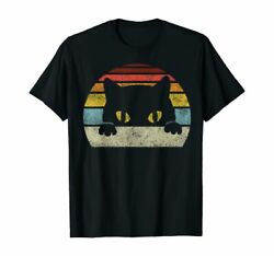 Vintage Black Cat Lover Retro Style Cats Gift For Lover Black T Shirt S 5XL