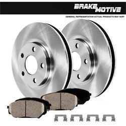 2 Front Brake Disc Rotors And Ceramic Pads 2004 2005 2006 2007 2008 Acura Tl Tls
