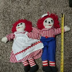Vintage 1972 Raggedy Anne And Andy Dollsgg
