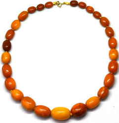 Antique Natural Untreated Baltic Butterscotch Amber Necklace 36.97 Grams