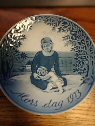 Georg Jensen 1973 Mars Dag Made In Denmark Used Mothers Day First Issue