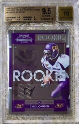 2008 Playoff Contenders College Ticket Auto Sp/25 Chris Johnson Rc Bgs 9.5/10
