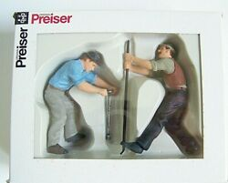 Preiser G 122.5 Scale 45009 Railroad Track Workers With Tools Figures