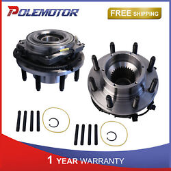 Front Rh And Lh Side Wheel Hub Bearing Assy For 11-16 Ford F350 F250 And Abs Sensor