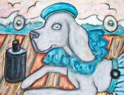 Weimaraner Art Print From Painting   Gifts, Poster, Home Decor, Picture 11x14