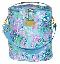 Lilly Pulitzer Blue Green Insulated Soft Beach Cooler with Adjustable $58.12