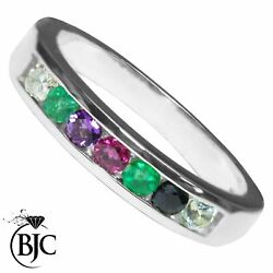 Bjcandreg 9ct White Gold Channel Set Eternity Ring Dearest Multiple Sizes And Boxes