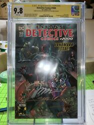 Detective Comics 1000 Cgc 9.8 Ss Signed By Jim Lee, Sinclair, Williams 3x Sigs