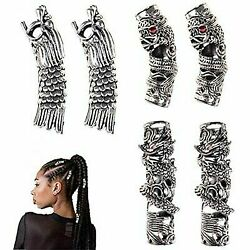 6 Pcs Norse Viking Dragon Beard Bead Dreadlocks Braid Hair Head Dress Clip Pin..