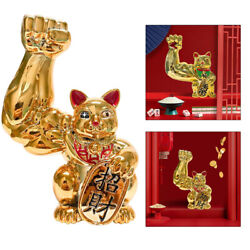 1pc Lucky Cat Figurines Feng Shui Good Luck Cat Home Decorative Collectibles