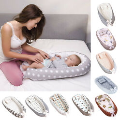 Newborn Infant Baby Portable Crib Bed Cartoon Pillow Removable And Washable