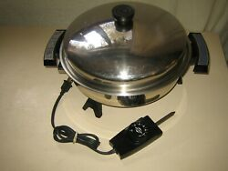 Webalco Liquid Core Usa 7209 Electric Skillet Fully Immersible 11andrdquo Usa Domed Lid