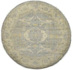 New Vintage Style Floral Classic 10x10 Handmade Oriental Round Rug Oushak Carpet