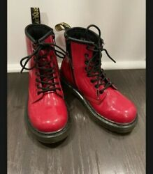 Red Patent Leather Girls Dr. Martens Size 13 $26.00