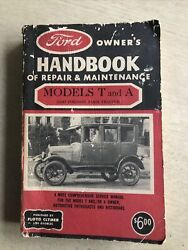 Ford Models 1908-1927 T And A Repair Owner Handbook, By Clymer, Also Farm Tractor