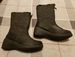 Totes Boots All Weather Faux Fur Lined Boots Size 6M Winter $38.00