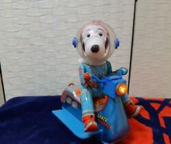 Vintage Snoopy Masudaya `60s Space Scooter Tin Toy