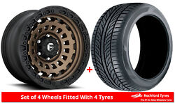 Alloy Wheels And Tyres 20 Fuel Zephyr Truck D634 For Ford Ranger [mk1] 99-06