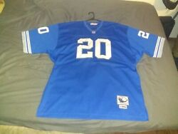 Barry Sanders 20 Detroit Lions Mitchell And Ness Throwback 1996 Jersey, Men's 56
