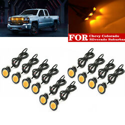 Raptor Svt Style Led Amber Grille Mark Light For Ford Chevy Colorado Silverado