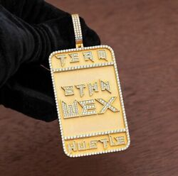 14k Yellow Gold Plated Menand039s Personalized Name Custom Dog Tag Pendant 925 Silver