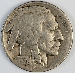 1926-s United States Buffalo Nickel 5 Cents - F Fine Condition