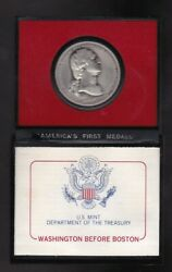 Washington Before Boston America's First Medals Pewter Coin With Coa