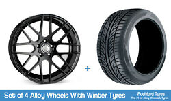Cades Winter Alloy Wheels And Snow Tyres 18 For Mercedes S-class [w140] 91-98
