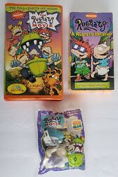 2 Rugrats Movies Vhs 1998/97 Nickelodeon W/ Tommy Doll Toy Vacation Full Length