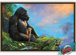🚩paradise-king Kong-1st.edition Enhanced Giclee On Canvas A/ppainted By Koufay
