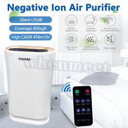 4 In 1 Air Purifier Cleaner Large Room Hepa Filter Uv-c Remove Smoker Pet Dust