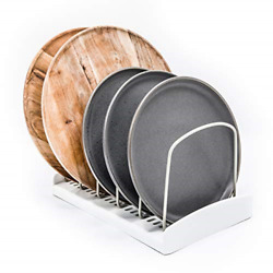 Adjustable Pot Lid Organizer For Kitchen Cabinets Counter Tops Store Bake Ware 1