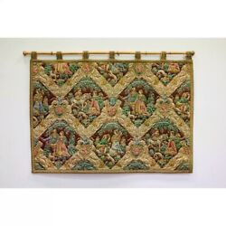 Vtg Hand Woven Belgium Tapestry Wall Hanging Vintage Wool Rug 3x4