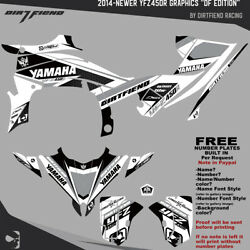 Yfz450r Graphics 2014-newer Dfr Df Edition White Sides Fenders