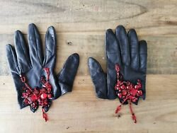 Dsquared2 Runway Show Embellished Half Gloves Size L Fits Small Collectible
