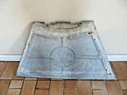 Old Metal Farm Find Makomb Wind Mill Advertising Antique Sign Metal Chicken