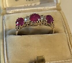 Antique 18ct Gold Ruby And Diamond Ring.