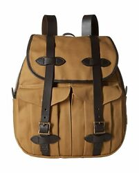 Filson Unisex Rucksack Bag Cotton Rugged Adjustable Strap Tan One Size 110702622