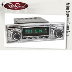 Retrosound Set Rsd-chrome-1a With Accessories Car Radio For Vintage And Us-cars