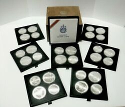 1976 Canada Olympic Silver Coins 14 Pc. 5 And 14 Pc. 10 Limited Edition