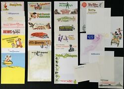 Official Disney Studio Letter Head Collection 1940s+ Extremely Rare Unused Mint