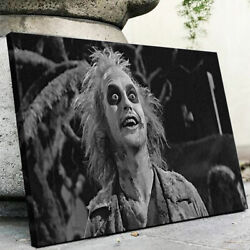 Beetlejuice Itand039s Showtime-retro Movie Canvas Print Wall Art-framed-various Sizes
