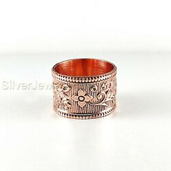 Solid Copper Brass Spinner Ring Jewelry Meditation Ring Statement All Size P1704