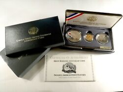 1991 Us Mount Rushmore 3-coin Commemorative Proof Set 650